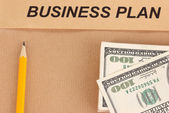 Paper folder with the words business — Stock Photo