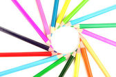 Color pencils isolated on white — Stock Photo