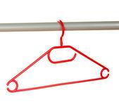 Plastic hanger isolated on white — Stock Photo