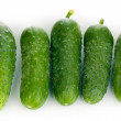 Fresh cucumbers isolated on white — Stock Photo #11037915