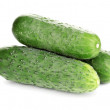 Fresh cucumbers isolated on white — Stock Photo #11071515