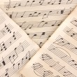Stock Photo: Musical notes close-up