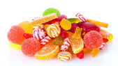 Colorful jelly candies isolated on white — Foto Stock