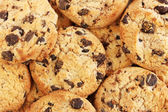 Chocolate chips cookies, close up — Stock Photo