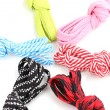 Colorful shoelaces isolated on white — Stock Photo #11089218