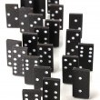 Dominoes isolated on white — Stock Photo