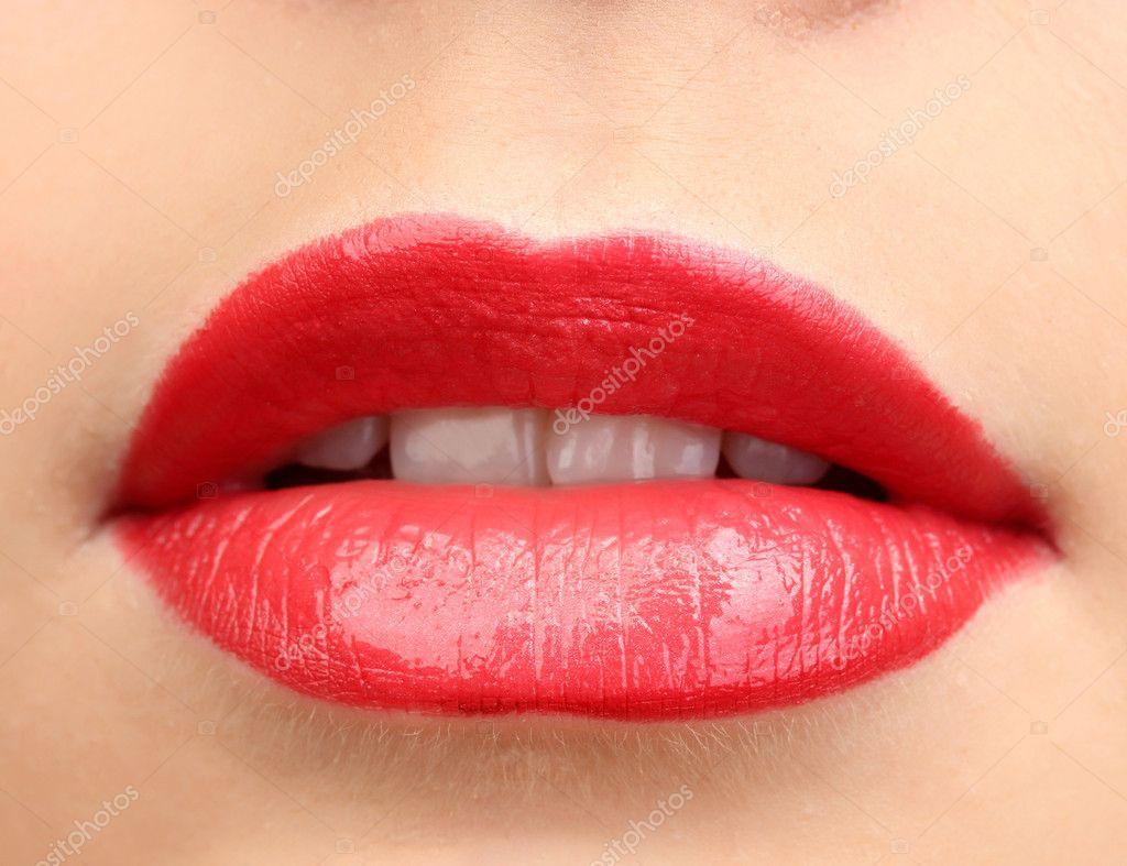 sch ne make up glamour rot gl nzende lippen stockfoto 11095228. Black Bedroom Furniture Sets. Home Design Ideas