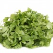 Stock Photo: Fresh coriander or cilantro isolated on white