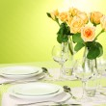エレガントな休日テーブルの設定 — ストック写真