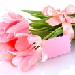 Beautiful pink tulips isolated on white — Stock Photo #11132690