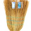 Stock Photo: Broom sweep euro close-up