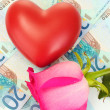 Concept of love and money - Stockfoto