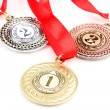 Three medals isolated on white — Stock Photo #11175767