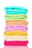 Toalhas coloridas isoladas no branco — Foto Stock