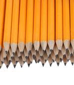 Crayons de plomb isolés sur blanc — Photo