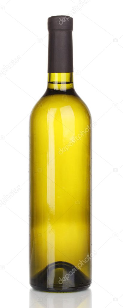 Bottle of great wine isolated on white  Stock Photo #11222696