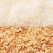 White sugar and brown sugar background closeup — Stock Photo #11280780