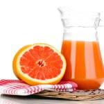Grapefruit juice and grapefruit isolated on white — Stock Photo #11315468