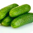Fresh cucumbers isolated on white — Stock Photo