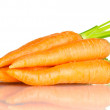 Fresh carrots isolated on white — Stock Photo