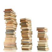 Staré knihy izolovaných na bílém — Stock fotografie