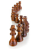Peças de xadrez isoladas no branco — Foto Stock