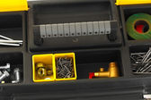 Tool box with tools close-up — Foto Stock