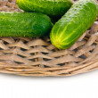 Cucumbers isolated on white — Stock Photo