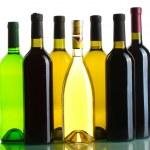 Bottles of wine isolated on white — Stock Photo #11483997