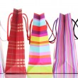 Bright shopping bags isolated on white - Foto de Stock  