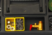 Tool box with tools close-up — 图库照片