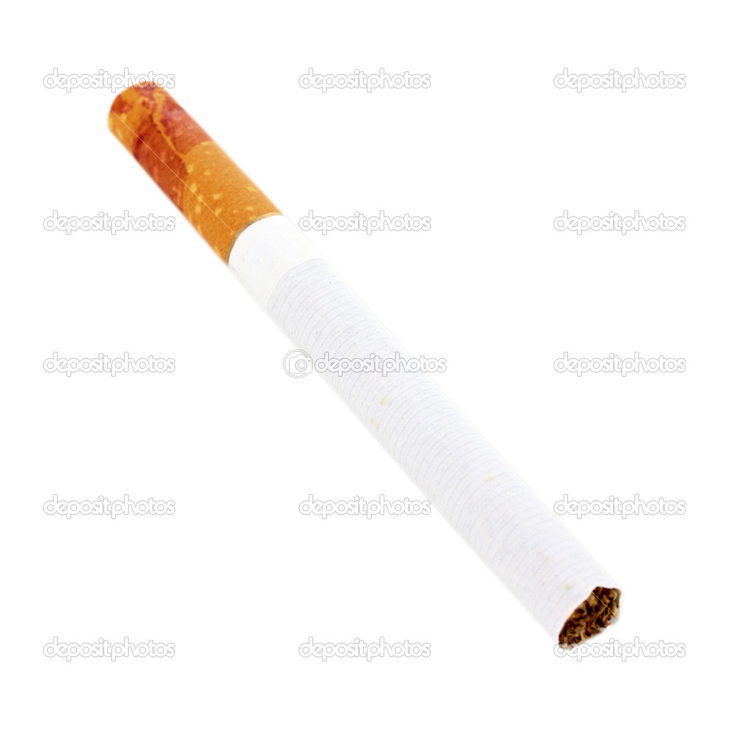 Cigarette butt isolateed on white  Stock Photo #11509869