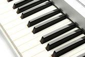 Background of synthesizer keyboard — Stock Photo