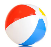 Bright inflatable ball isolated on white — Stock Photo