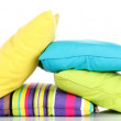 Bright color pillows isolated on white — Stock Photo #11572081