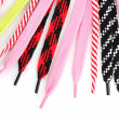 Colorful shoelaces isolated on white — Stock Photo #11652096