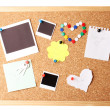 Cork board with notes — Stock Photo #11654889
