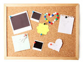 Cork board with notes — Stock Photo