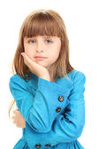 Portrait of sweet little girl isolated on white — Stock Photo