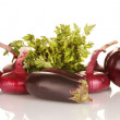 Purple vegetables isolated on white — Stock Photo #11670501