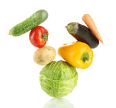 Fresh vegetables isolated on white — Foto Stock