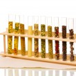Various spices in tubes isolated on white - ストック写真