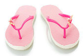 Pink beach shoes isolated on white — 图库照片