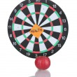 Stock Photo: Darts with sticker symbolizing health isolated on white
