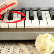 Background of piano keyboard - Stock Photo