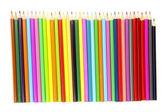 Crayons de couleur isolés sur blanc — Photo
