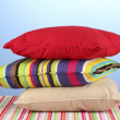 Pillows on blue background — Stock Photo #11760541
