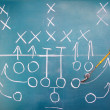 American football plan on blackboard — Stock Photo #11765020