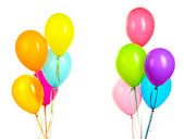 Colorful balloons on white background — Stock Photo