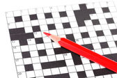Crossword puzzle close-up — Stok fotoğraf